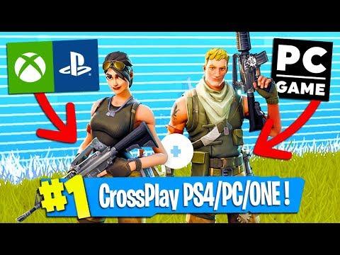 comment jouer entre ps4/pc et xbox sur fortnite battle royale - YouTube