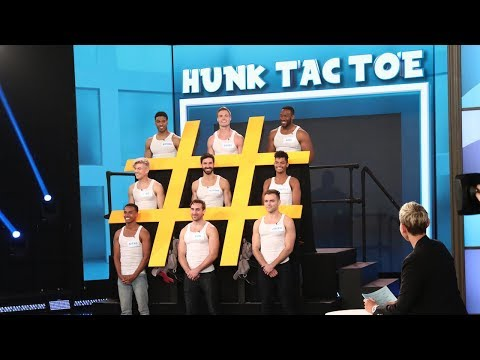 Ellen Introduces 'Hunk Tac Toe'