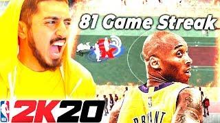 I Went On A 81 Win Streak for Kobe Bryant in NBA 2K20