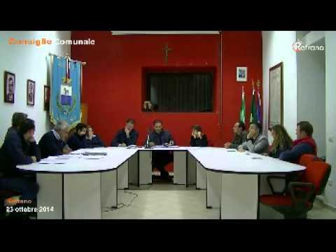 Consiglio Comunale Rofrano 23 ottobre 2014