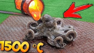EXPERIMENT: WHAT IF to COOK in LAVA - OCTOPUS ?