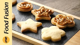 Shortbread Cookie Sandwich with Dulce De Leche  Recipe By Food Fusion