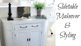 Sidetable Makeover & Styling | Painted Furniture