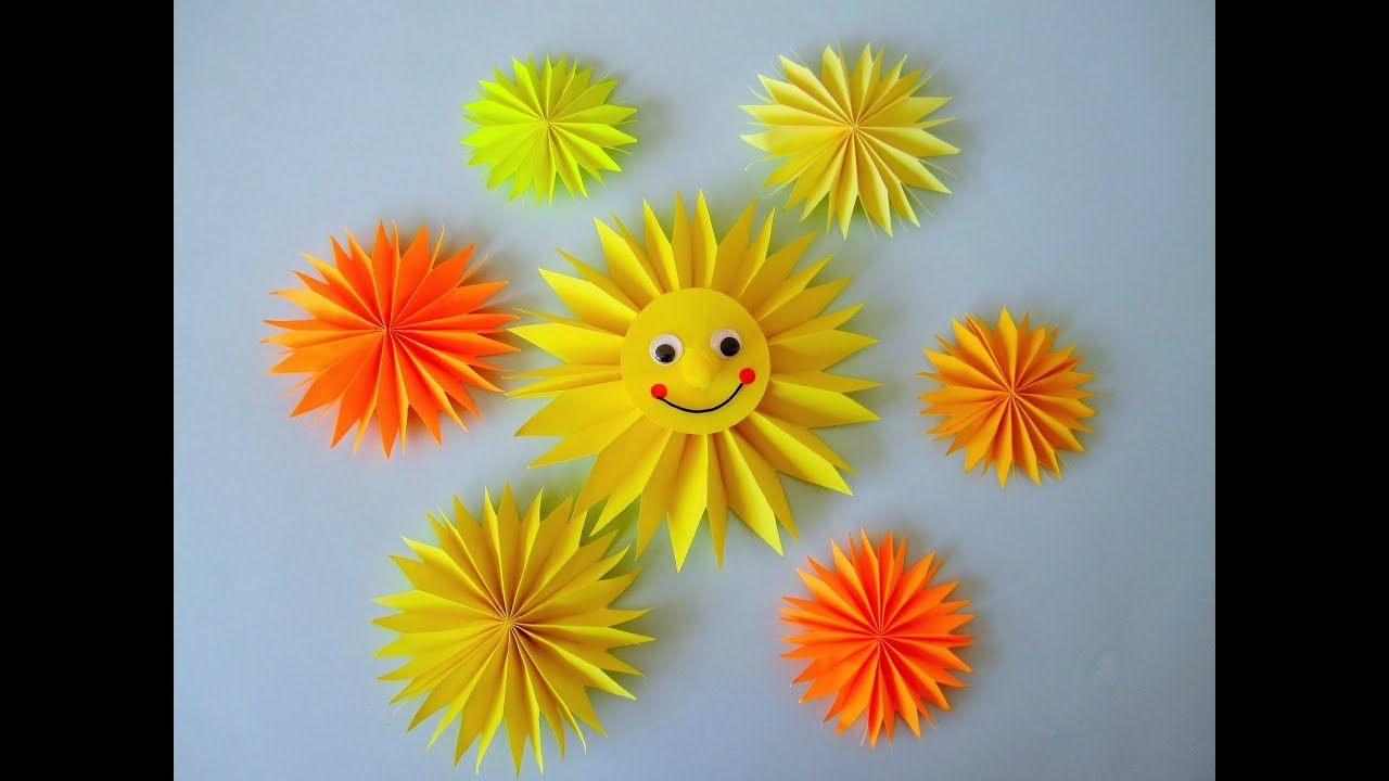 Easy Origami Sun Doll Tutorial DIY Paper Crafts   Paper crafts ...   720x1280