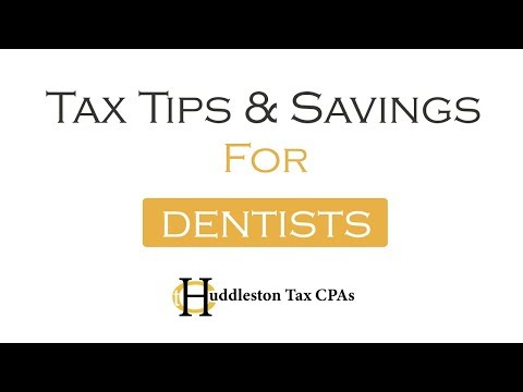 Tax Tips For Dentists (Small Business Webcast)