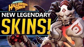 Overwatch All NEW Legendary Skins! Halloween Terror - Voicelines, sprays and more!