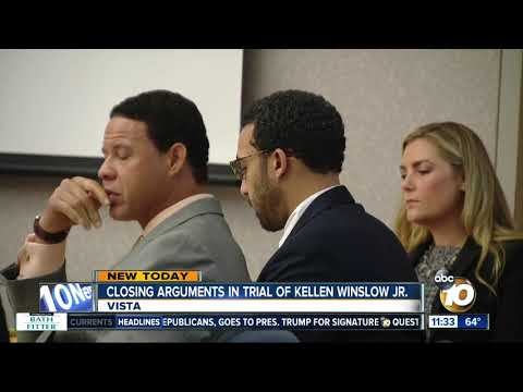 Closing arguments in trial of Kellen Winslow Jr.