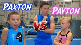 Sister VS Brother TWIN Gymnastics Rematch!