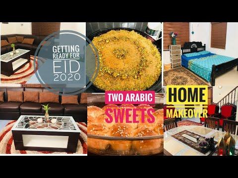 Getting ready for EID 2020|Home makeover|2 Arabian sweets|Kunafa|Honeycomb bread|Tastetoursby Shabna