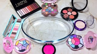 Mixing Makeup Into Glossy Slime! Recycling My Makeup In Slime! Is It A Waste Of Make-Up?