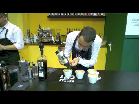 Sandalj Trading at Host 2015 (Milan, Italy). Cappuccino Latte Art by José Ramos
