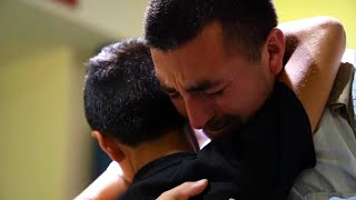 Dad, Son Cry as They Reunite After Year Apart