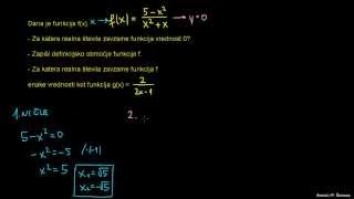 Racionalna enačba in neenačba 2