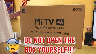 """Mi TV 4A 32"""" Unboxing & Installation experience with HOW TO DO IT AT HOME guide!"""