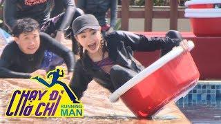 Chạy Đi Chờ Chi| Trấn Thành, Minh Hằng ngã sấp mặt vì trò trượt thau