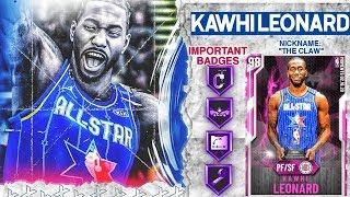 ALL STAR MVP PINK DIAMOND KAWHI LEONARD GAMEPLAY! HES THE PERFECT CARD IN NBA 2k20 MyTEAM