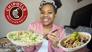 CHIPOTLE MUKBANG | WHATS IN MY BOWL?