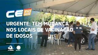 Urgente: tem mudança nos locais de vacinação de idosos