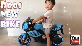 Funny toys review video. Unboxing and assembling power wheel motorbike with lightning wheel