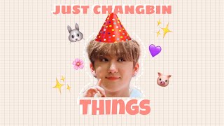 just changbin things because he is stray kids' maknae