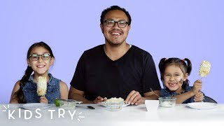 Kids Try Their Dads' Favorite Snacks from Childhood | Kids Try | HiHo Kids