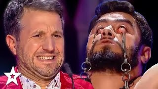Judges Can't Watch DANGEROUS Audition on Romania's Got Talent! | Got Talent Global