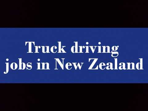 Truck driving jobs in New Zealand