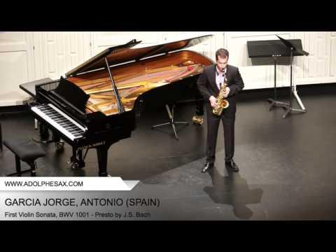 Dinant 2014 - Garcia Jorge Antonio - First Violin Sonata, BWV 1001 - Presto by J.S. Bach