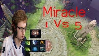 Miracle morphling 1 vs 5 Hard Game Rank Match 2019