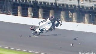 Kyle Kaiser Huge Airborne Crash @ 2019 Indy Practice