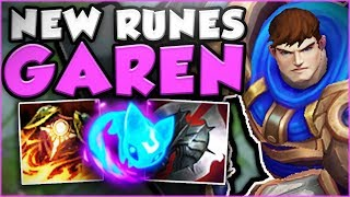 WTF? WHY DOES GAREN E + AERY DO THIS MUCH DMG? NEW GAREN TOP GAMEPLAY SEASON 8! - League of Legends