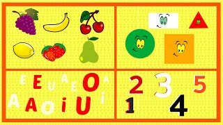 Vídeo de aprendizaje para niños de preescolar | Vídeos educativos infantiles