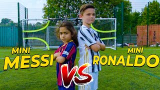 EPIC MINI MESSI VS MINI RONALDO SKILLS BATTLE | Billy Wingrove & Jeremy Lynch