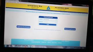 Online Banking Registration in Allahabad Bank