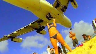 Unique St. Maarten - Best Air France A340 Landings from different spots