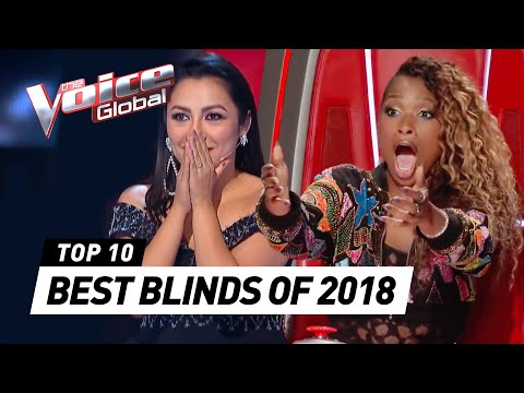 TOP 10   BEST BLIND AUDITIONS OF 2018   The Voice Rewind
