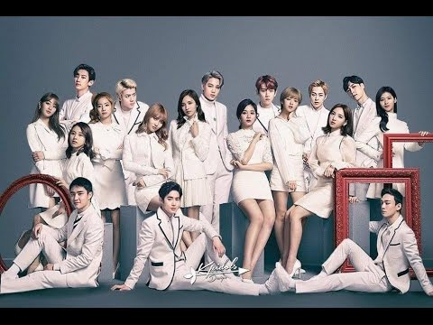 EXO and TWICE moments