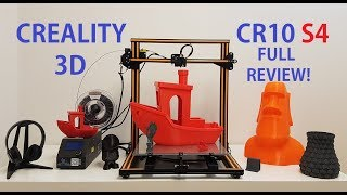 Creality CR10 S4 3D printer Full Review! Is it better then CR10S?