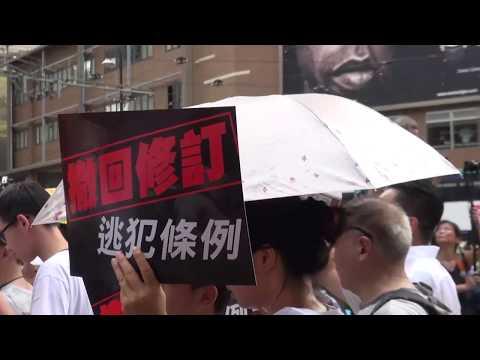 抗议港府修订逃犯条例 香港爆发近空前规模大游行