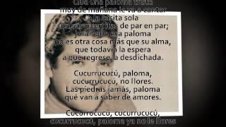 Cucurrucucú paloma - Miguel Aceves Mejía (letra)