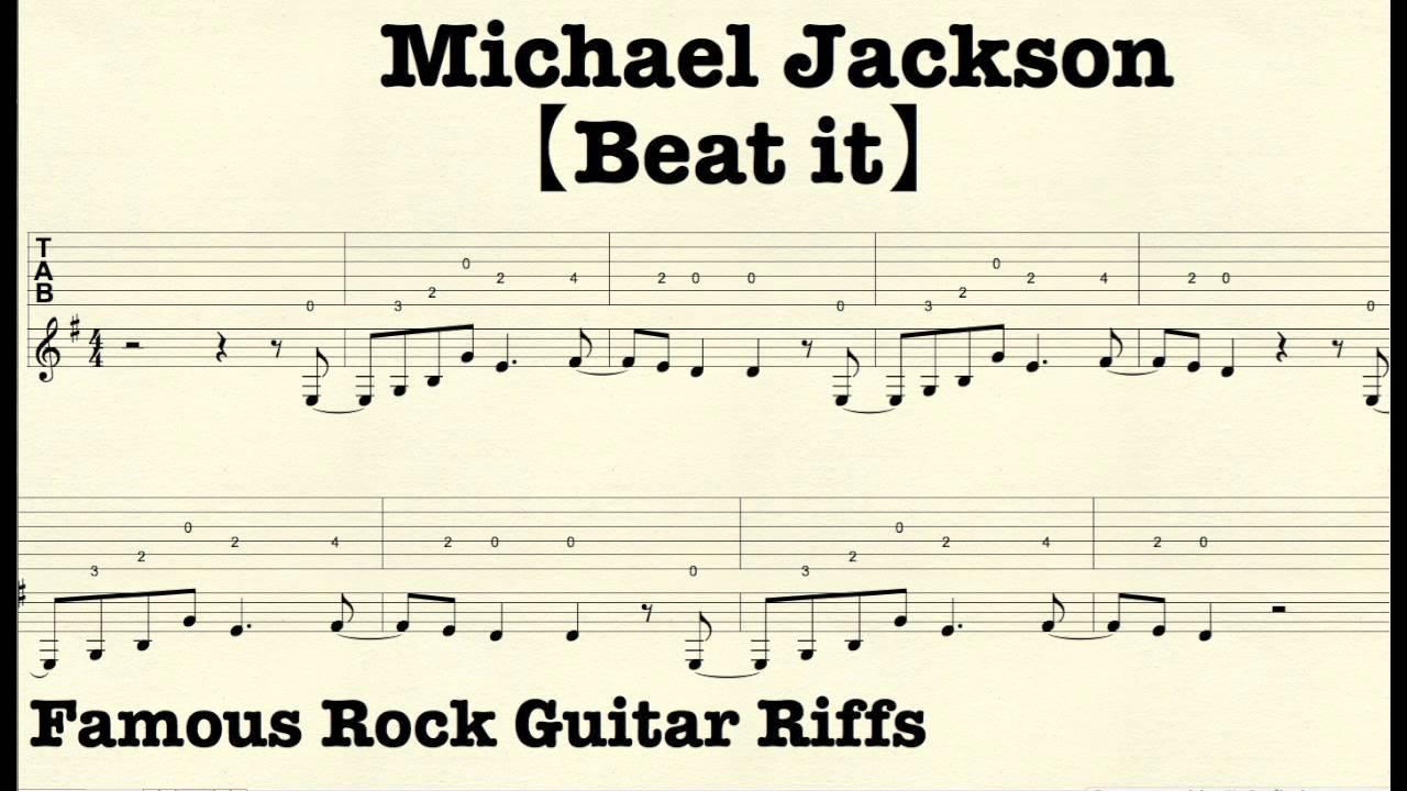 Beat It (Solo) Tab by Van Halen | Songsterr Tabs with Rhythm