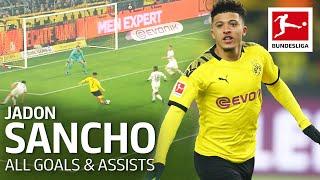 Jadon Sancho  - All Goals and Assists 2019/20