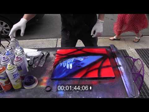 AMAZING street performer spray paint art