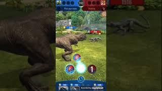 Dinosaur T-rex fight Jurassic world alive game