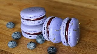 Blueberry Lemon French Macarons | sweetco0kiepie