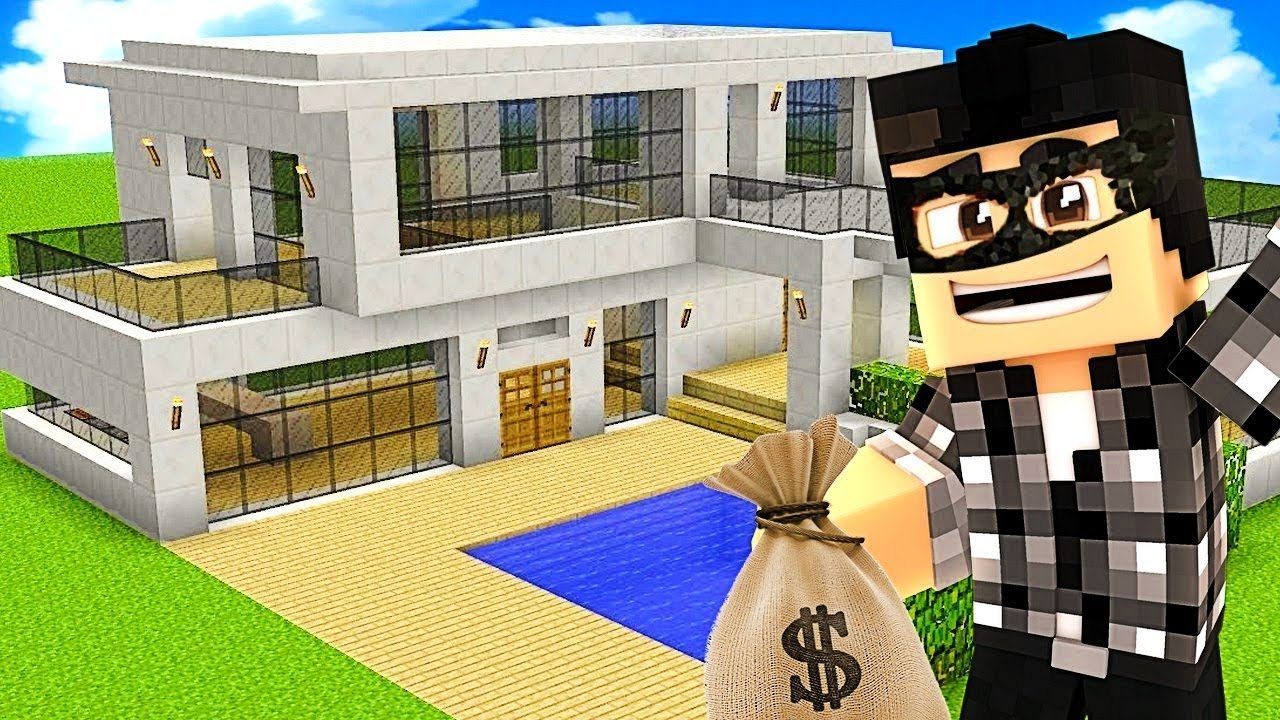 Je Cambriole La Maison De Mon Voisin Minecraft
