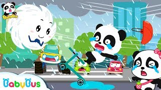 Be Careful! A Typhoon is Coming | Super Panda Rescue Team | Kids Safety Tips | BabyBus Cartoon