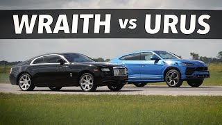 Lamborghini Urus vs Rolls-Royce Wraith | DRAG AND ROLL RACE!