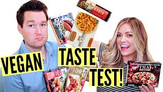 VEGAN FROZEN FOOD TASTE TEST!