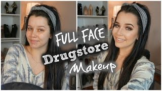 FULL FACE DRUGSTORE MAKEUP LOOK | Talk Through & First Impressions!